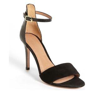 Joie 'Jaclyn' Suede High Heel Sandal Black Size 38